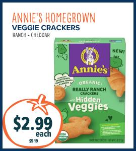 annies veg crackers